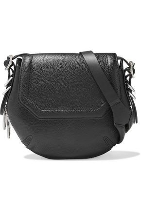RAG & BONE Bradbury Mini zip-detailed pebbled-leather shoulder bag