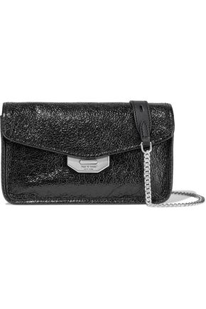 RAG & BONE Field cracked patent-leather clutch