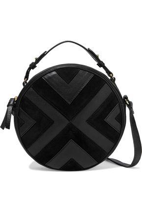ANTIK BATIK Raika textured-leather and suede shoulder bag