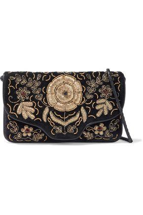 ANTIK BATIK Zary embellished cotton-velvet clutch