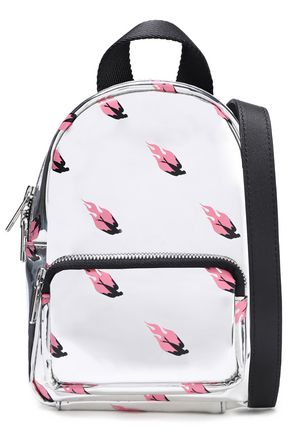 McQ Alexander McQueen Printed faux mirrored-leather backpack