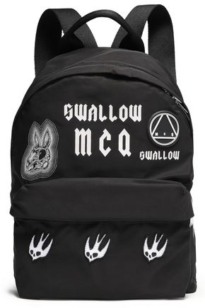 McQ Alexander McQueen Appliquéd printed shell backpack