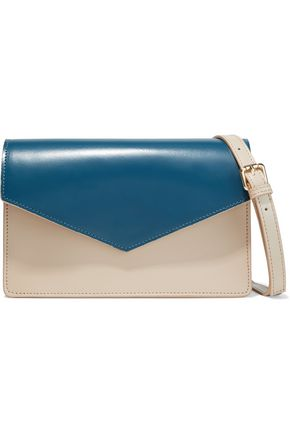 IRIS & INK Zinnia two-tone leather shoulder bag