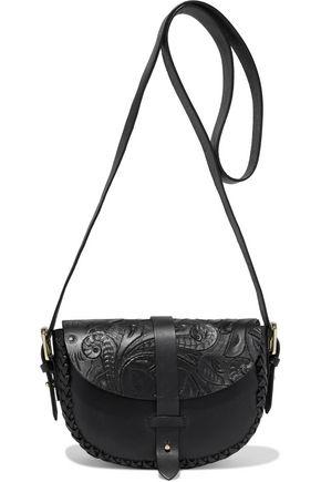 ANTIK BATIK Kailo embossed leather shoulder bag