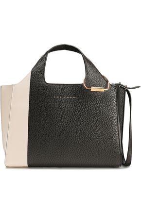 VICTORIA BECKHAM Smooth and textured-leather shoulder bag