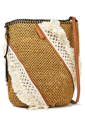 3.1 PHILLIP LIM Marlee macramé-paneled woven tote