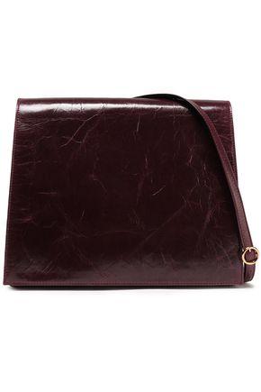 VICTORIA BECKHAM Cahier cracked-leather shoulder bag