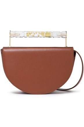 AEVHA LONDON Helvemoon leather clutch