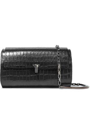 THE VOLON PO Trunk croc-effect leather shoulder bag