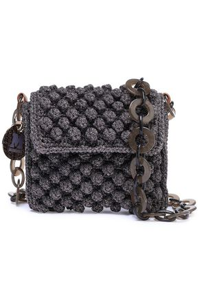 M MISSONI Metallic crochet-knit shoulder bag
