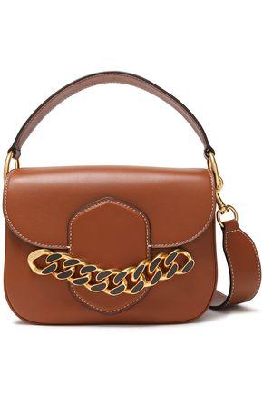 TORY BURCH Chain-embellished leather shoulder bag