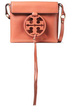 TORY BURCH حقيبة كتف من الجلد مزينة بشعار الماركة