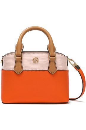 TORY BURCH Color-block leather mini shoulder bag