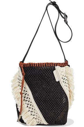 3.1 PHILLIP LIM Marlee mini macramé-paneled woven shoulder bag