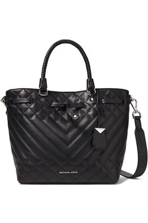 MICHAEL MICHAEL KORS Blakely logo-appliquéd quilted leather shoulder bag