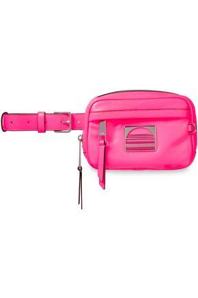 MARC JACOBS Logo-embellished neon leather belt bag