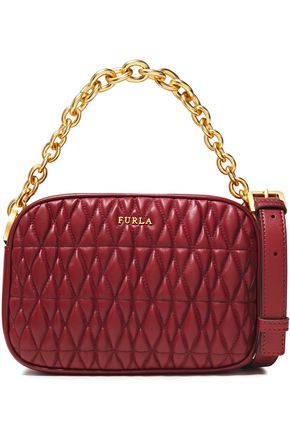 FURLA Cometa mini quilted leather shoulder bag