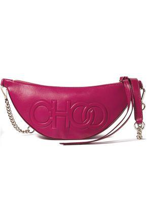 JIMMY CHOO Faye embossed leather shoulder bag