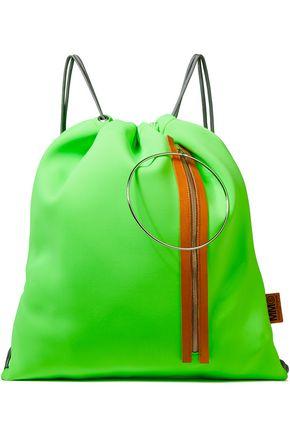 MM6 MAISON MARGIELA حقيبة ظهر من النيوبرين مزيّنة بالجلد وبحلقات