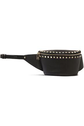 VALENTINO GARAVANI Rockstud textured-leather belt bag