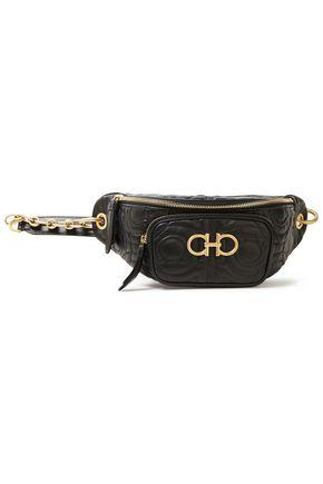 SALVATORE FERRAGAMO Appliquéd quilted leather belt bag
