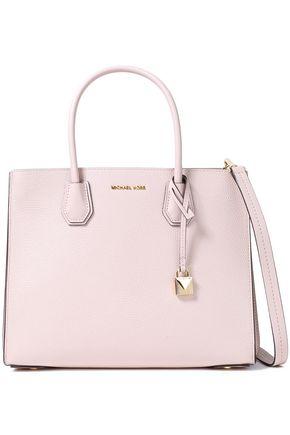 MICHAEL MICHAEL KORS حقيبة كتف من الجلد النافر مع تصميمات مخيطة من شعار الماركة