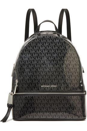 MICHAEL MICHAEL KORS Printed glossed PVC backpack