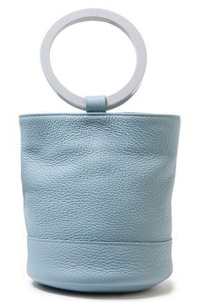 SIMON MILLER Bonsai textured-leather bucket bag