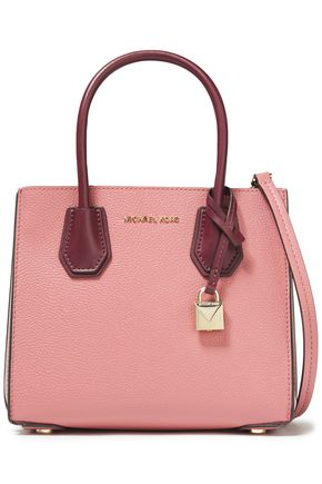 MICHAEL MICHAEL KORS Mercer color-block pebbled-leather shoulder bag