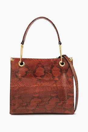 MARNI Snake-effect leather shoulder bag