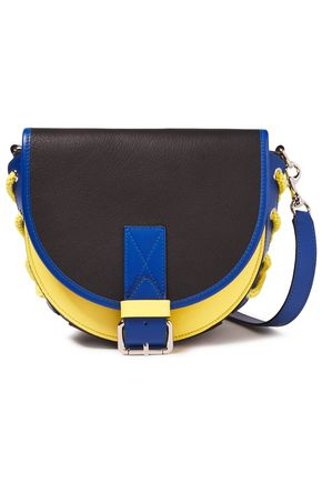 JW ANDERSON Bike small lace-up color-block textured-leather shoulder bag