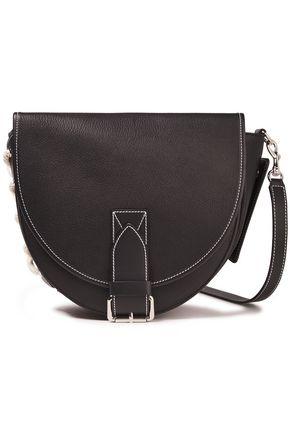 JW ANDERSON Bike lace-up textured-leather shoulder bag