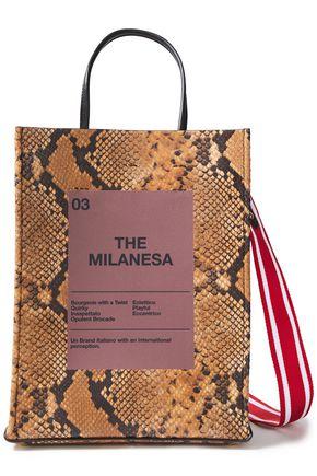 N°21 The Milanesa スネーク風 レザー トートバッグ