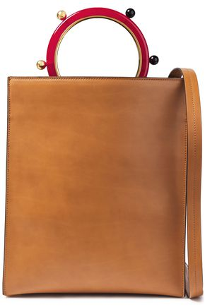 MARNI Pannier burnished leather tote