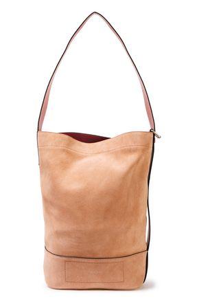RAG & BONE Leather-paneled color-block suede bucket bag