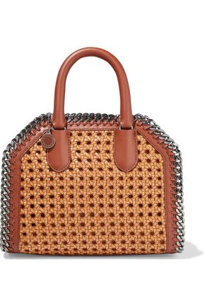 STELLA McCARTNEY Falabella Box woven faux leather tote