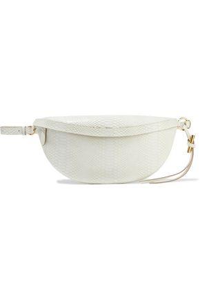 STELLA McCARTNEY Ella small faux snake-effect leather belt bag