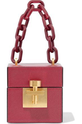 OSCAR DE LA RENTA Alibi Cube textured-leather tote