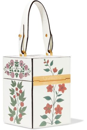 OSCAR DE LA RENTA Mini Alibi printed leather shoulder bag