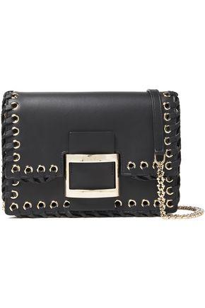 ROGER VIVIER Whipstitched leather shoulder bag