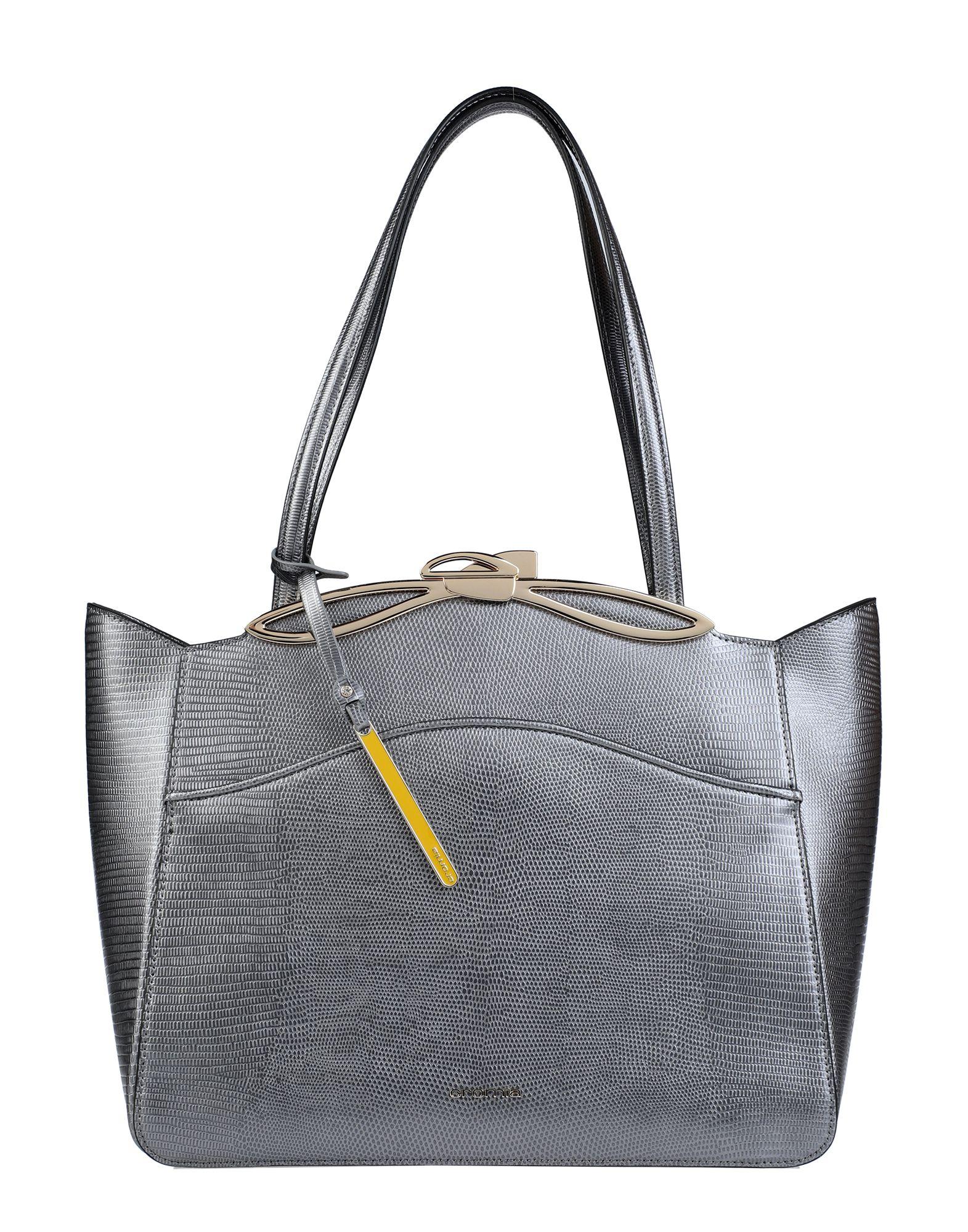《セール開催中》CROMIA レディース ハンドバッグ 鉛色 革