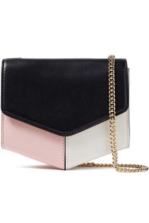 SANDRO Color-block leather shoulder bag