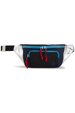 SANDRO Color-block leather and shell belt bag