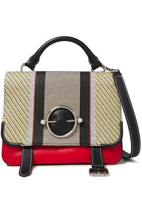 J.W.ANDERSON Disc woven and leather shoulder bag