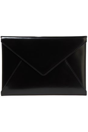 MARNI Glossed-leather envelope clutch