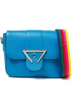 SARA BATTAGLIA حقيبة كتف من الجلد المحبب مزينة بشعار الماركة