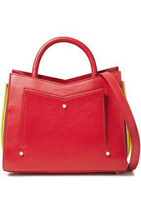 SARA BATTAGLIA حقيبة توت من الجلد متباينة الألوان بتجعيدات رفيعة