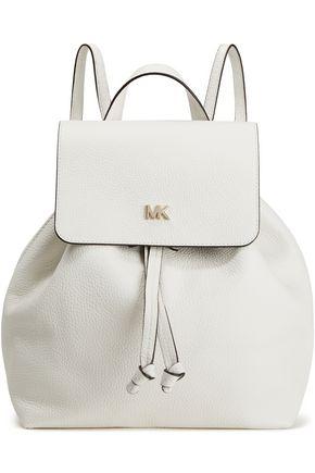 MICHAEL MICHAEL KORS حقيبة ظهر من الجلد المحبب مزينة بشعار الماركة