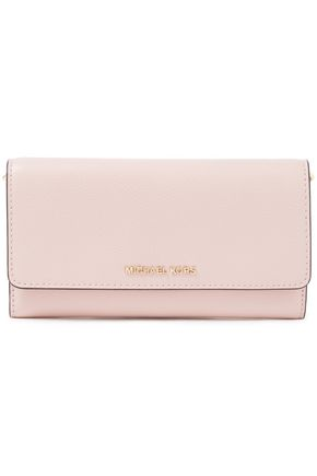 MICHAEL MICHAEL KORS Logo-embellished textured-leather continental wallet