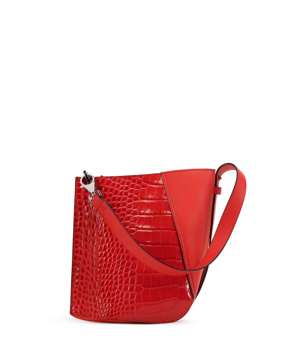 HOOK CROC-EFFECT BAG SMALL - Lanvin